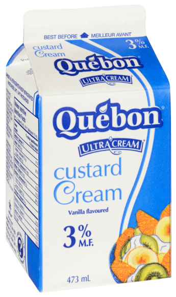 Québon 3% Custard Cream
