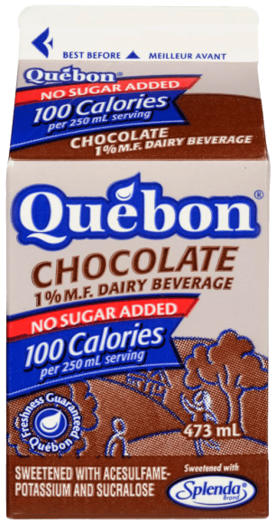 Québon 1% Chocolate Dairy Beverage Sweetened with Splenda®