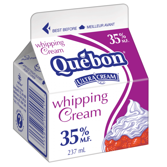 Québon Whipped Cream 35% 237 mL