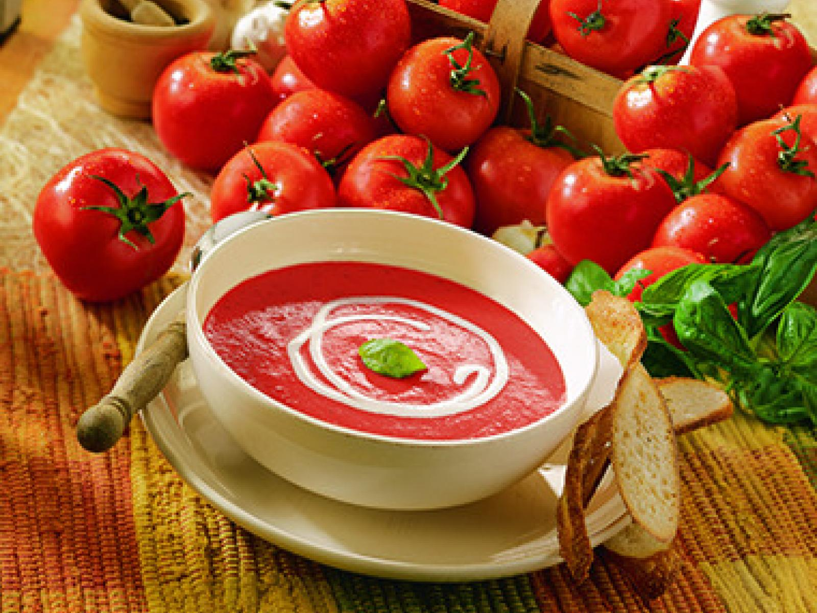 Cream of Tomato with Fresh Basil