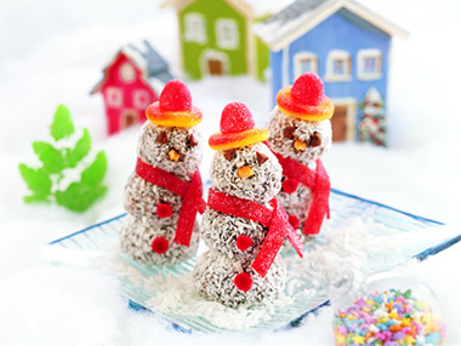 Chocolate Truffle Snowmen