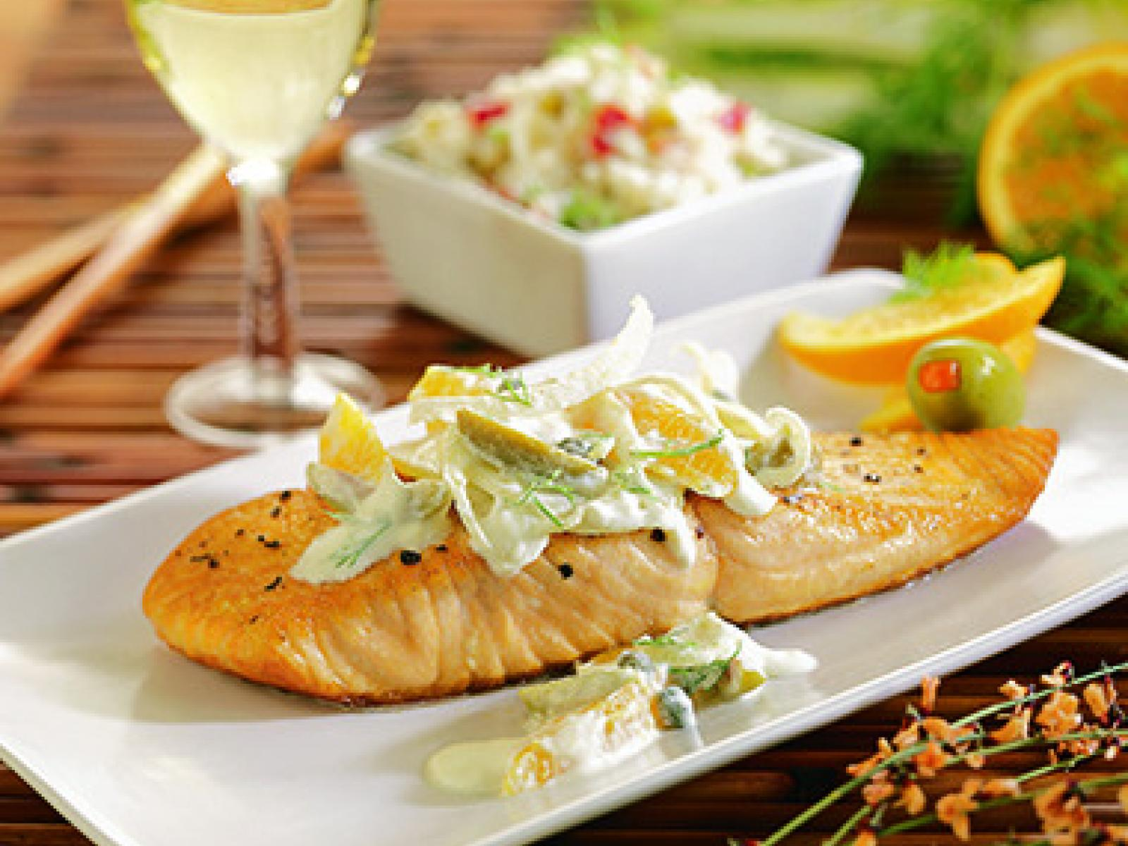 Salmon Steaks with Salsa